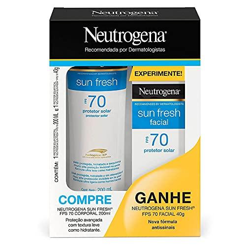 Neutrogena Sun Fresh FPS 70 Kit – Protetor Solar Corporal + Protetor Solar Facial Kit