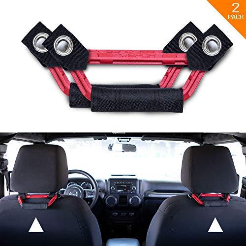 GPCA Kopfstützen-Haltegriffe, universell für LKW, Sportwagen, Jeep, einfache Kopfstützenhalterung für 4 x 4 Off-Road Rücksitz-Beifahrer. GP Back Grip Patent angemeldet. (Schwarz/Rot)