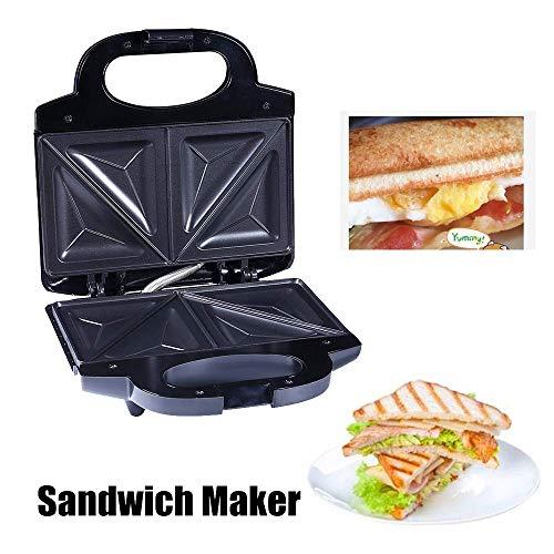 GOHHK Waffel Sandwich Maker Abnehmbare Antihaftbeschichtete Platten und automatisches Thermostatsystem für Frühstück, Mittagessen oder Snacks