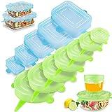 Tapas Extensibles Silicona, Paquete de 13 Tapa de Microondas para Alimentos...