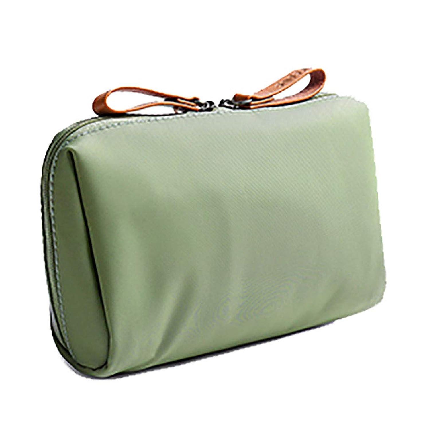 狂う歯科の悲劇旅行シンプルな化粧品のバッグ小さな携帯用化粧品袋ミニクラッチバッグと口紅の収納袋緑色のポリエステル16.8 * 6 * 10.5CM