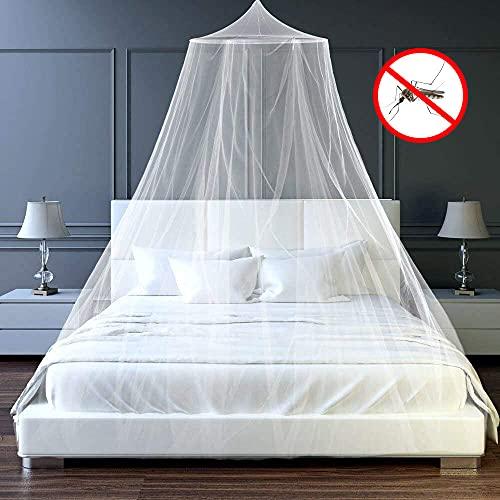 Mosquito Net, Mosquitera Universal, Cama con Dosel Mosquitera,Fácil de Instalar, Adecuada para Cuna, Cama Individual, Cama Doble (White)