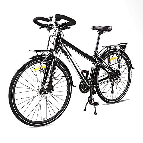 Mango De Mariposa De Aluminio Luces Bicicleta,Bicicleta De montaha Freno De Disco De Aceite Doble con Balda Trasera,Bicicleta 27,5 Pulgadas 30 Velocidades