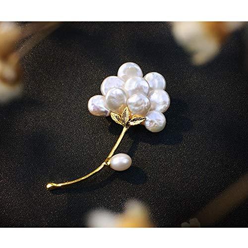 JIRENSHU Broche de Flores Accesorios de Pin de Perla Femenina Accesorios de decoración de Abrigo de Abrigo de Ramillete