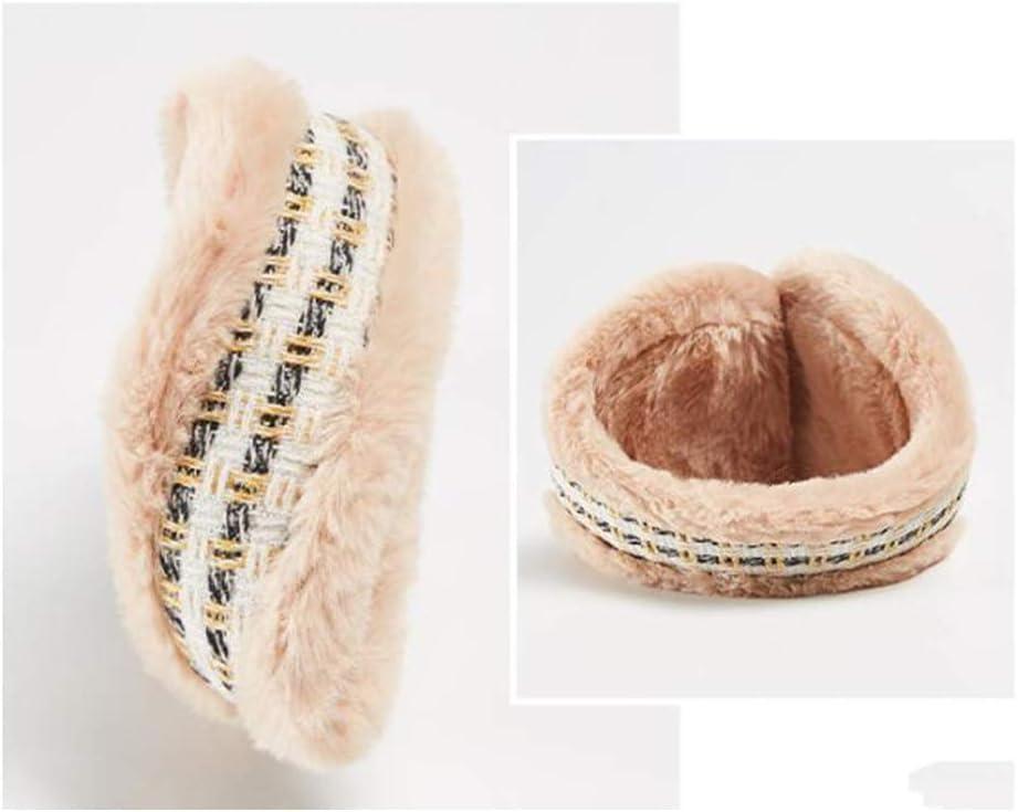 ZYXLN-Earmuffs,Warm Earmuffs Winter Earmuffs for Men and Women Thickened Cold Ear Cover Winter Knitted Earmuffs Color Earmuffs Foldable Ear Muffs (Color : Khaki)