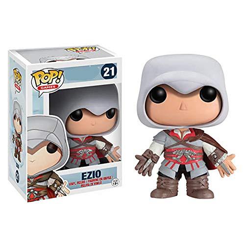 Disney Assassin S Creed Character # 21 Ezio Boys Chicos Coleccionables Modelo Juguetes Regalo de cumpleaños # 375 Aguilar Acción y figura Muñecas de vinilo-Ezio con caja