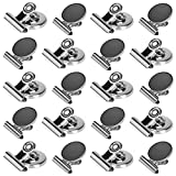 20 Pack Magnetic Clips, Fridge/Refrigerator Magnet Clips for Photo and Memo Display, 30mm Wide Whiteboard Magnetic Clips
