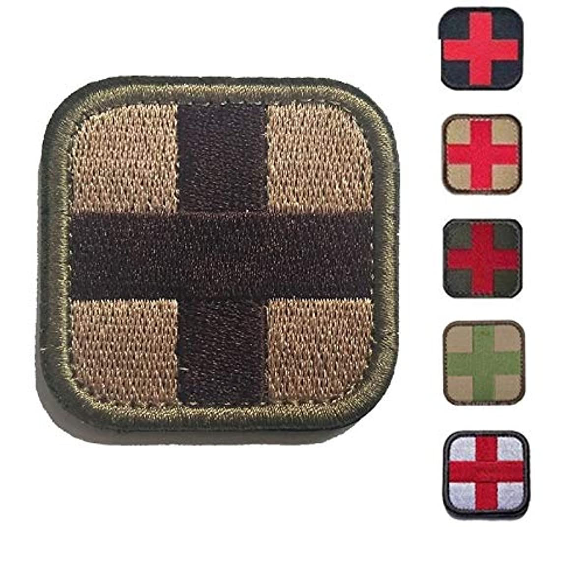 Morton Home-Cross 50mm Tactical Hook & Loop Patch - Medic (Brown)