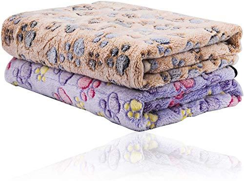 N\\C Hunde Decken 2er-Pack, Saugfähig, Weich und Waschbar (76 cm X 52cm), Handtuch Hunde, Mikrofaser Badehandtuch für Haustiere, Hunde Bademantel Schnelltrocknend(Farbe zufällig)