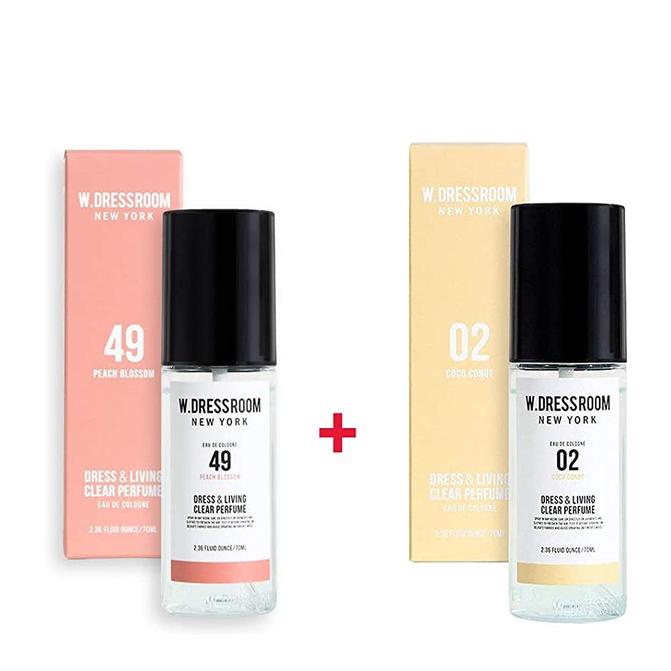 望みシャイグリーンバックW.DRESSROOM Dress & Living Clear Perfume 70ml (No 49 Peach Blossom)+(No .02 Coco Conut)