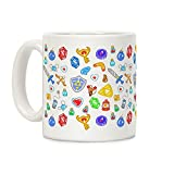 zelda coffee cup - LookHUMAN Zelda Items Pattern White 11 Ounce Ceramic Coffee Mug