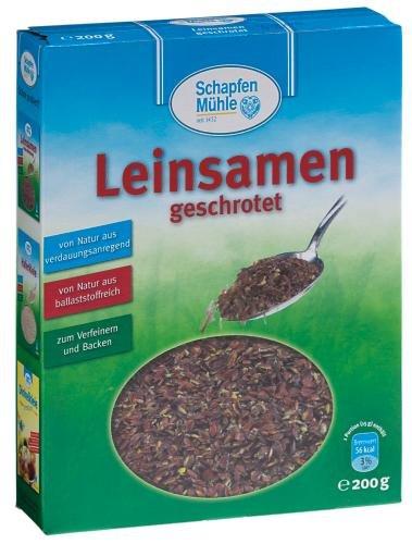 SchapfenMühle Leinsamen geschrotet, 11er Pack (11 x 200 g Packung)