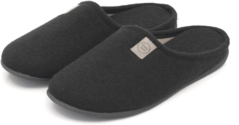 W&XY Hausschuhe Winter Warm Baumwolle Haus Warm Innen Hoch Elastizität Elastizität Elastizität Gemütlich Einfarbig Herren Schuhe  97cbab