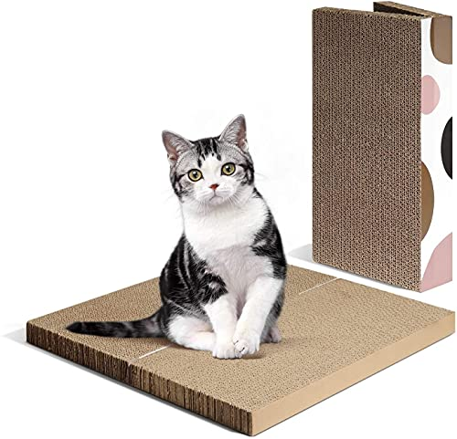 Rascador para gatos de Heritage, para cama y sofá, estampado de leopardo, incluye bolsita de hierba de gato
