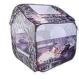 Kinderzelt, Spielzelt Burg Haus für Mädchen, Serria Tragbares Camouflage Children Baby Outdoors Tents Game House Castle Oversized Toy