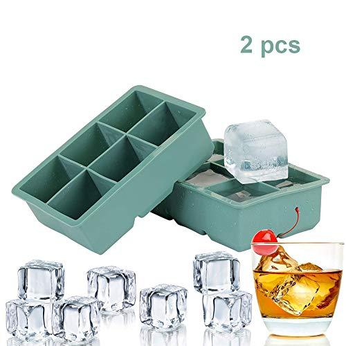 LTLCLZ Eiswürfelform Silikon, 2 Stück Eiswürfelbehälter Eiswürfel Silikonformen Für Eiswürfel Für Gefrierschrank, Whisky, Cocktails, Saft, Schokolade, Süßigkeiten, Götterspeise