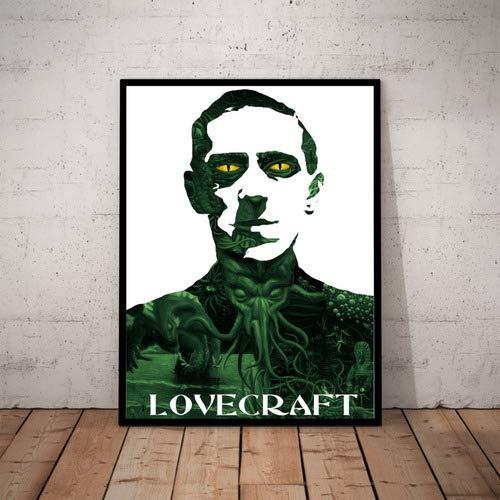 Quadro Escritor H. P. Lovecraft Arte Cthulhu