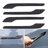 auvstar Türgriff Aufkleber für Tesla Model 3, Kohlefaser Türgriff Aufkleber für Tesla Model 3, Autozubehör für Tesla, Türkratzschutz, Patch Modifikation, Zubehör für Tesla Model 3