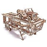 Wood Trick - Remolque de coche - Puzzle 3D madera - Rompecabezas adultos - Ensamblaje sin pegamento - 229 piezas