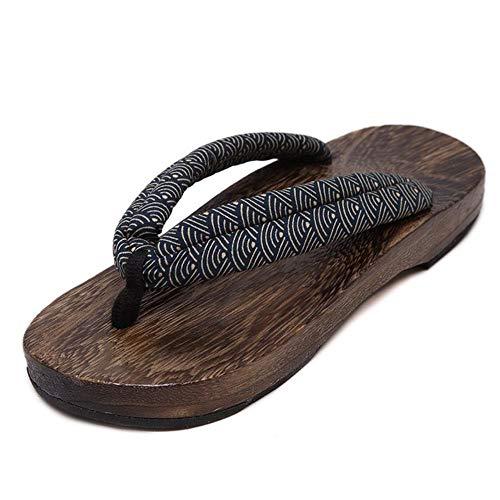 Vendita Uomo Pantofole da Esterno in Legno Abbigliamento da Spiaggia Infradito Zoccoli Tradizionali Giapponesi Geta Kimono Samurai Cosplay Paulownia Scarpe Appartamenti, Colore4,9