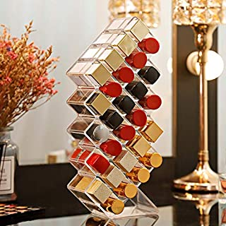 Portonss 10/16/28 Grids Acrylic Makeup Organizer Storage Box Cosmetic Lipstick Box Case Holder