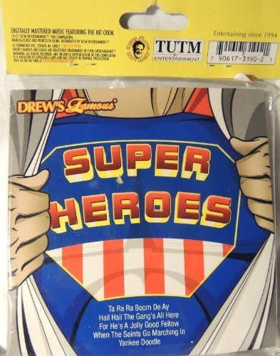 DF SUPERHERO PARTY 54 PC PUZZLE W/ CD PARTY FAVOR by The Hit Crew (2009-02-01)