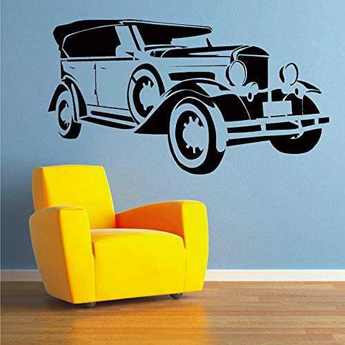 mlpnko Hochzeit Auto Wandtattoo Vintage Auto Vinyl Kunst Aufkleber Garage Wohnzimmer Home Dekoration Tapete 46X102cm