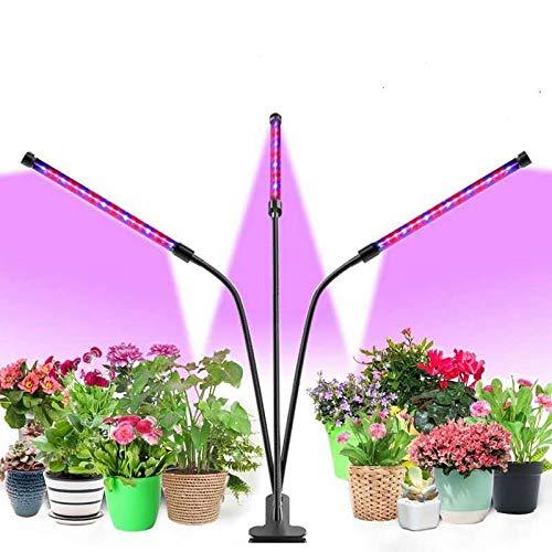 Lampe Plante Interieur Lampe de Culture LED Horticole Led Croissance Floraison Lampe Led Horticole Lampe Plante Lampe de Croissance 40 W 3 Types de Mode 9 Types de Luminosité 3 Minuteries 3 Tubes