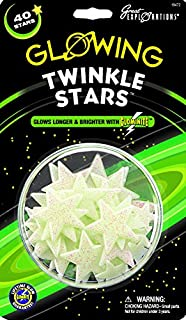 Glow in the Dark Twinkle Stars - 40 stars per package - Safe For Walls