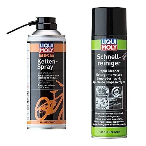 Liqui Moly 6055 Bike Kettenspray 400 ml & 3318 Schnellreiniger 500 ml