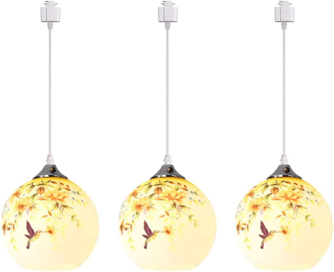 KIVEN 3-Lights Track Max 43% OFF Mount Pendant Lighting Globe Ranking TOP15 with Frosted-G