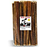 Downtown Pet Supply 6 Inch Junior Treats, All Natural Bully Dog Sticks (for Small Dogs) Dog Chew Treats (6 Inch, 25 Pack)