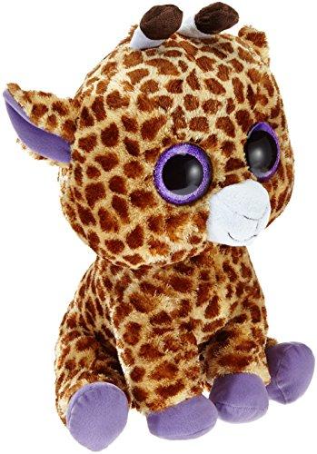 TY 7136801 7136801-Safari Boo X-Large-Giraffe braun, 42 cm, Beanie Boos
