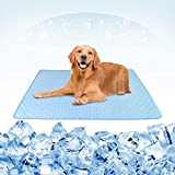 Pet Cooling Mats for Dogs, ideapro Breathable Ice Silk Dog Cooling Mat, Portable Summer Pet Cooling Mat , Washable Pet Cooling Blanket for Indoor & Outdoor (40 x 28 in)