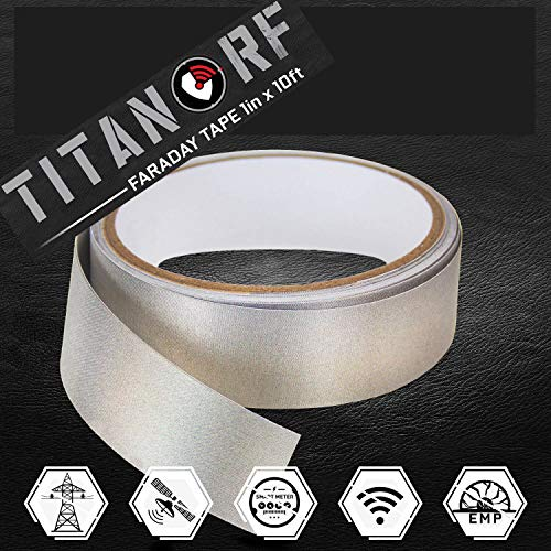 TitanRF Faraday Tape - High-Shielding Conductive Adhesive Tape // Used to Connect TitanRF Fabric Sheets or Seal RF Enclosures (1