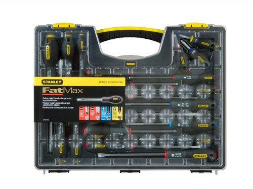 Stanley 562572 FatMax - Juego de destornilladores con puntas variadas (20 unidades)