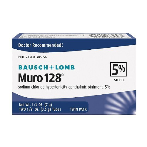 Muro 128 Sodium Chloride Hypertonicity Ophthalmic Ointment, 5% Sterile,Twin Pack 0.25 oz