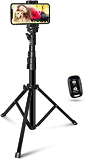 60-inch Selfie Stick Tripod, UBeeszie Extendable Cell Phone Tripod Stand with Wireless Remote Shutter, Compatible with All...