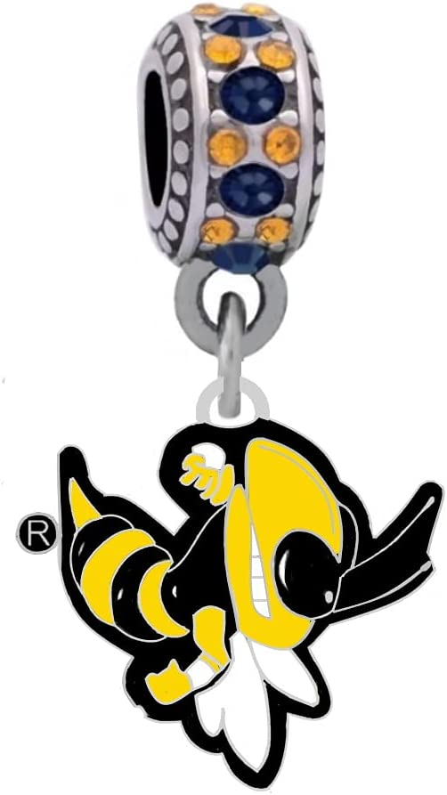 Georgia Tech Mascot Daily bargain sale Logo Charm Styl Compatible 70% OFF Outlet With Fits Pandora
