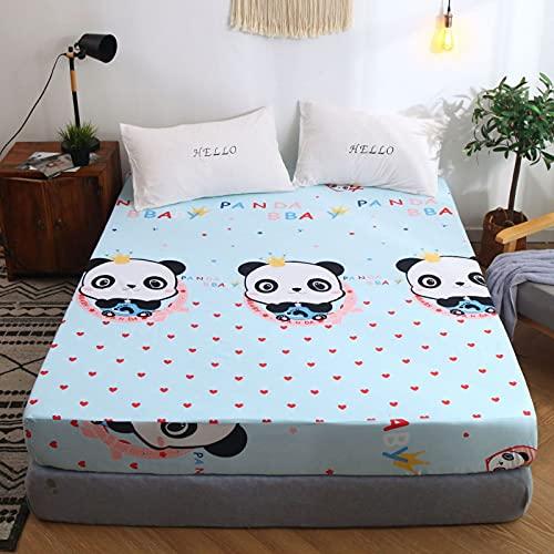 NHhuai Protector de colchón de bambú Funda de colchón y Ajustable Colcha de Cama Tipo faldón Cubierta de Cama de una Sola Pieza