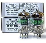 Riverstone Audio - Tested/Matched Pair (2 Tubes) 7-Pin GE JAN 5654W Fully-Tested Vacuum Tubes - Upgrade for 6AK5 / 6J1 / 6J1P / EF95 - JAN 5654W Platinum Grade Pair