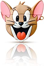 katstore Cute Cartoon Tom Jerry Protective Case Cover for Airpods with Hook Buckle (Jerry)