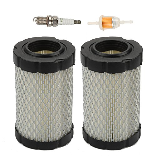 Harbot (Pack of 2 Air Filter with Fuel Filter for JD MIU14395 D100 D105 D110 D130 Z225 Z235 Z255 X124 L105 L107 E100 E120 E130 Husqvarna YTA22V46 YTH22V46 YTH24V48 HU800awd Lawn Mower Tractor