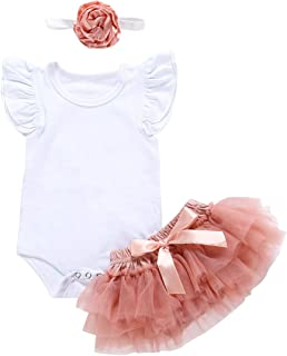 Set di Accessori Fascia Shorts puseky 3 Pezzi//Set Neonato Baby Girl Nappa Cotone Balls Top