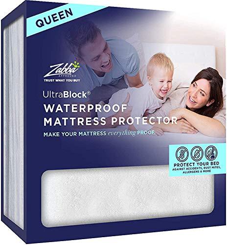 UltraBlock Queen Size Waterproof Mattress Protector - Premium Soft Cotton Terry Cover