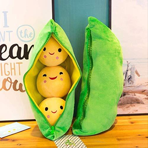 Vqxrhf Una Linda Vaina de Guisante de Peluche de Juguete Abrazo Almohada Novedad muñeca de Trapo de Tela muñeca de Frijol Amarillo muñeca Regalo niña 50 cm (al Colgante) Soja