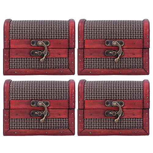 Caja de almacenamiento vintage, caja de almacenamiento antigua, artesanías antiguas ligeras de forma compacta para decoraciones de tocador
