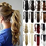 24' Straight Wrap Around Ponytail Extension for Woman Synthetic Hair Extension