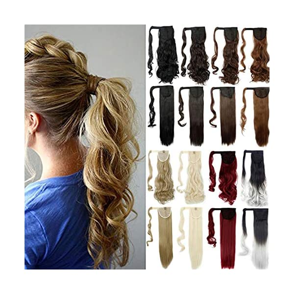 Beauty Shopping Lelinta 18″ Wavy Curly Wrap Around Ponytail Extension for