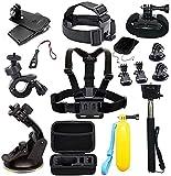 Kit de accesorios para cámara de acción Gopro MAX GoPro Hero 9 8 7 6 5 Session 4 3+ 3 2 1 negro plateado